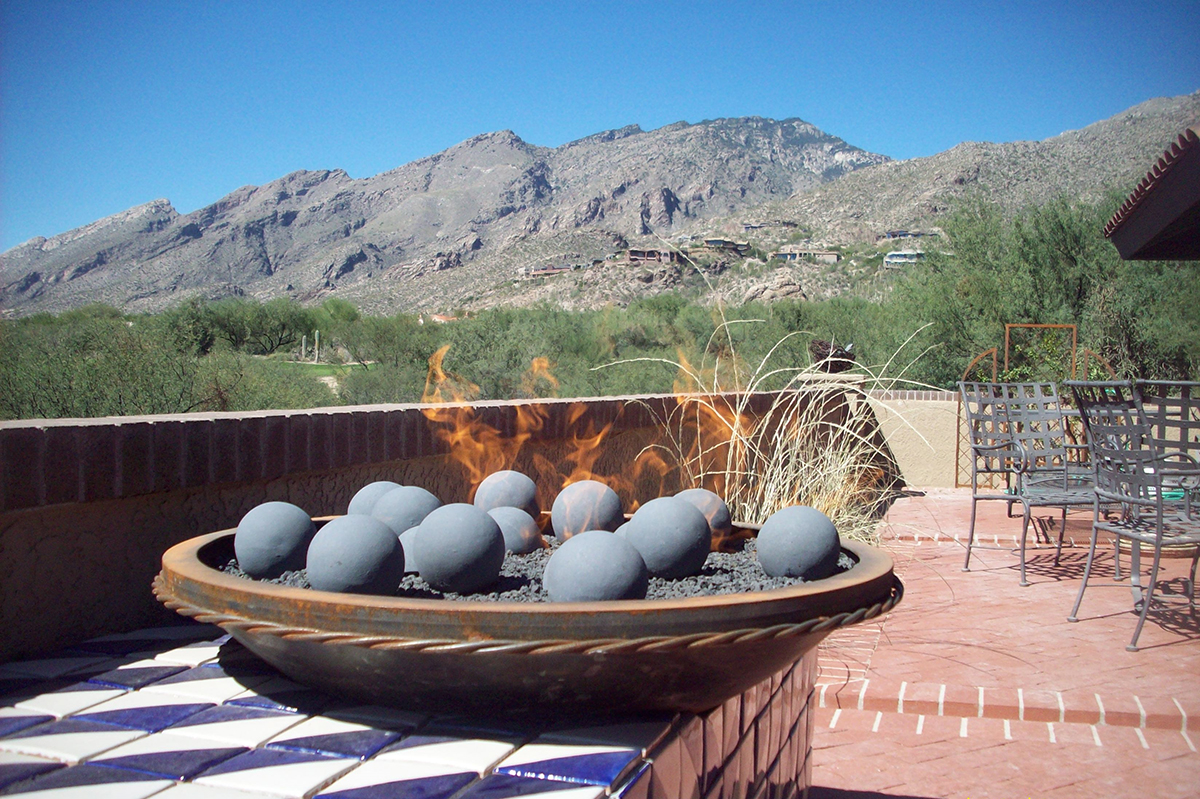 Outdoor Fire Bowl with Geo Shapes